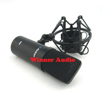 Free shipping,Pro high quantity USB studio condenser Microphone,computer microphone, instrument recording microphone
