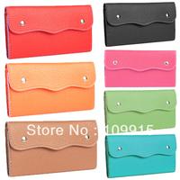 Fashion Women's Long Purses Bags Faux Leather Double Button Clutch Bag Wallet  KB0044
