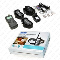 Free Shipping 1000M Anti Barking Remote Training Collars with Rechargeable for 3 Dogs