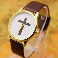 8 colors New Arrival Fashion Leather Cross Watches Leather Wrist watch Quartz Watches 1pcs/lot