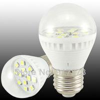 2W bubble ball bulb E27 B22  White light bulb 24leds energy saving LED bulb lamp Spot light lamp