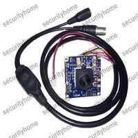 3.7mm SONY Effio-P HD 960H 700TVL CCD Pinhole PCB camera Super WDR CCTV Cameras OSD Menu Control