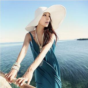 YBB Factory wholesale Korean Version Summer Dayan Beach Hat Large Brimmed Hat Sun Hat Send Streamers B038
