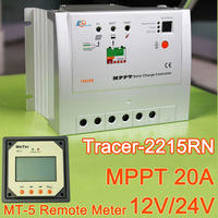 20A MPPT Solar Charge Controller Regulator Tracer 2215RN Max PV 150V Input with MT-5 Remote Meter