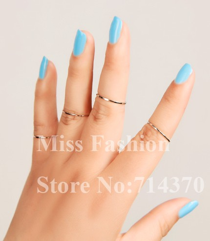 Free Shipping 2013 New Hotselling Gold Thin Shiny Rings, Gold Midi Knuckle ring
