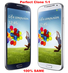 Perfect clone 100% same Galaxy S4 I9500 Andriod 4.1 dual core 3G phone MTK6577 1GB/4GB 8MP Single SIM Original logo with gifts(China (Mainland))