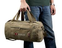Aerlis Vintage drum outdoor travel bag man New fashion mens canvas tote bags for trip Khaki Black Army green 141 Free shipping