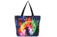 FREE SHIPPING Fashion Walker  HB005 Women/Man Galaxy  Bull Printed Handbag Computer LAPTOP Ipad Shoulder Bag Recycle Wholesale