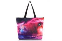 FREE SHIPPING Fashion Walker  HB004 Women/Man Galaxy  Printed Handbag Computer LAPTOP Ipad Shoulder Bag Recycle Wholesale