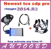 Promotion!!!--with 8 CAR CABLES-- 2013.R2 LED on OBD CONNECTOR TCS scanner CDP+ PRO Plus CARs+TRUCKs+Generic 3 in1--Free DHL