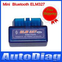 Wholesale Promotion Price Mini ELM327 V1.5 Bluetooth CAN BUS Blue Mini 327 Diagnostic Interface OBD2 EOBD CAN BUS