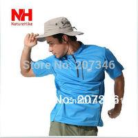 Outdoor Quick Dry Breathable Soft Mandarin Collar Short Sleeve Men T-Shirt Summer Running Climbing Sport T-Shirts Zipper Tees