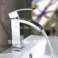 Bathroom Basin Sink Brass Deck Mounted Single handle Handle Chrome Mixer Tap Faucet  JN-0275