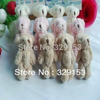 H-6cm    lovely Mini Stuffed Jointed Bear Gift Flower Packing Teddy Bear Long wool bears 100pcs/lot