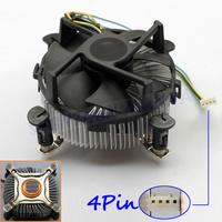 FREE SHIPPING Aluminum+Copper 4PIN 12V CPU COOL COOLING HEATSINK PC COOLER FAN SUPPORT Intel 30PCS/LOT #FS046