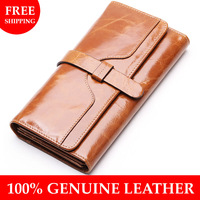 Borgasets 2014 NEW DESIGN Wallets Genuine Leather Women Cowhide Purse Wholesale and Retail