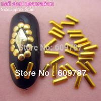 MD-1F 2000pcs/lot rectangle gold 5mm 3d metal nail studs nail decorations