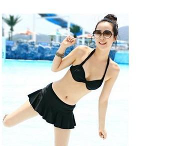 Бесплатная доставка, 2014 новый бренд сексуальное черный красный росту бикини бразильский купальник бикини для женщин сплит купальники комплект CH014