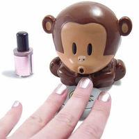 New Cute Monkey Hand Nail Art Tips Polish Dryer Blower Manicure Machine free shipping