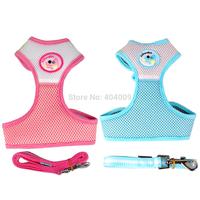 New Nylon Mesh Dog Harness&Leash Set Breathable Puppy Girth Vest , S/M/L/XL Adjustable