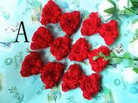 Free Shipping Mini Chiffon Rose Hair bow  20pcs/lot  F00000