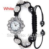 Free shipping! Wholesale Shamballa Bracelet watches Shamballa Micro Pave CZ Crystal Disco Ball, Gift Battery