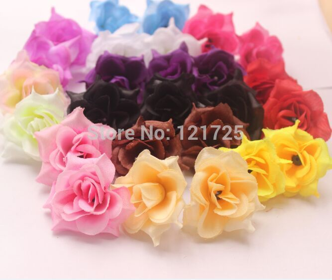Diy rustic rose small rose artificial flower head for dress decoration(China (Mainland))