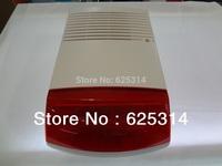 Red Color Outdoor waterproof Alarm siren with strobe