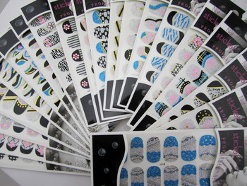 20 different designs  3D glitter nail sticker nail decal 20 sheets/lot free shipping