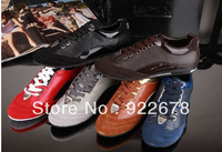 wholesale men's athletic shoes,fashion brand genuine cow leather sneakers,top quality causal sport shoe size 38-45 free shipping