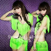 Tassel Latin dance skirt female costumes ds costume sexy performance wear  club dresses