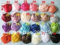 FZ0003 Fabric Ribbon rosettes 35 colors mixed 2400pcs garment accessory 4CM Headwear rosette