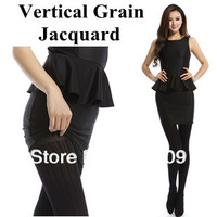 Free shipping Vertical Grain Jacquard Pantyhose sexy and fashion Thin section Velvet Plus Modal Female legs socks comfortable