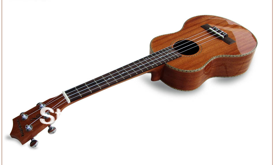 "Wholesale!!! 26"" Mahogany Tenor Ukulele Guitar 4 strings guitar mini guitar guitarra ukulele in Light colour(China (Mainland))"