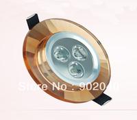 Free shipping 3 Watt Crystal LED ceiling light