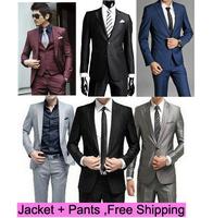 Suit wholesale suits Korean Slim Men's suits (suit + pants)