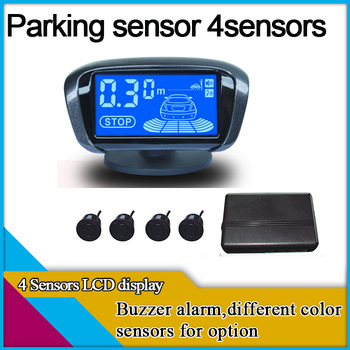 car parking system with 4 sensors,buzzer alarm,parking sensor system,difference color for option