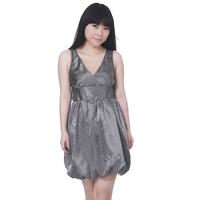 Free shipping!/-HY075-Small Size-Fashion V-neck Vertical stripes Sleeveless Bud Sleeveless dress(no waistband)/Hot Sale!