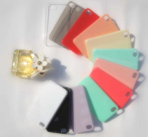 Fashion Cases For Apple Cell Phone Cute Candy Color Ice Cream Glossy Hard Case Cover Skin For iPhone 4 4G 4S Wholesale 10pcs/lot