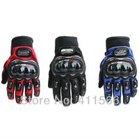 Free Shipping Por-biker Motorcycle Racing Accessories & Parts Bike Bicycle Full Finger Protective Gear Gloves 3 Color  L/XL/XXL
