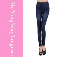 faux  Stretched Jean Imitate Cowboy Legging Blue Cheap Price Drop Shipping LC79239 Fashion leggings for women Free shipping
