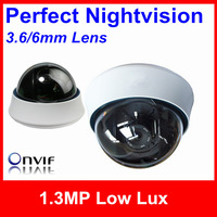 Security IP Camera,Perfect Nightvision 1.3MP 0.01Lux 1280*960 4/6mm Lens Housing ONVIF POE Optional IP Dome Camera/Support Dahua