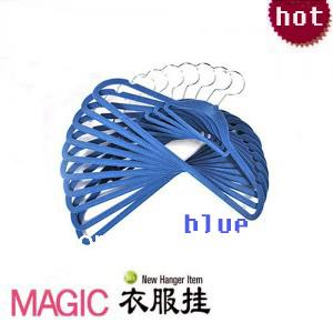 Free Shipping10Pcs/LOT Quality Flocking Hanger, Non-slip Hangers Magic Hangers, Racks Hangers For Clothes