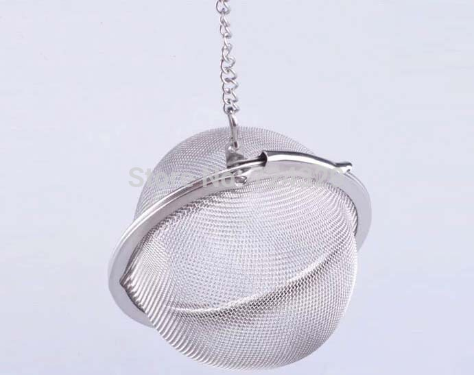 Tea Infuser Stainless Steel Tea Pot Infuser Sphere Mesh Tea Strainer Ball Good Quality 4.5cm 25PCS/Lot(China (Mainland))