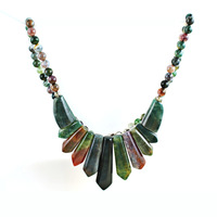 India the stone arrowheads type necklace natural agate necklace  fashion wholesale high-end professional