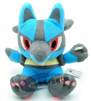 "japanese anime Lucario Free Shipping Pokemon Plush Toy  7"" Cute Soft Stuffed Animal Doll Kid Gift"