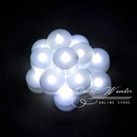 Freeshipping,Smokeless flameless Electronic LED candle light ,flashing Yellow Light 1.5 inch Candle Lamp 24 pcs/lot