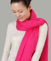 Pink Color 100% Pure Silk Chiffon Ladies Silk Scarf Shawl Scarf Wholesale
