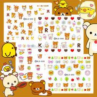 4 pieces cartoon little bear kids like DS-39-42-44-45 export japan 2014 new water transfer nail art decal
