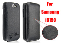 100% Genuine Leather Flip case for Samsung Galaxy W i8150 imak original The Count Case Cover For Samsung i8150 Free shipping